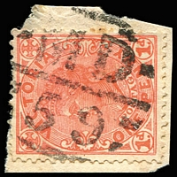 Lot 11167:1559: 'MD/59' on 1d pink.  Allocated to Springvale R.S.-PO 1/2/1887; renamed Springvale PO 20/10/1902.