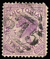 Lot 11182:1615: '[1]615' on 2d violet. [Rated SS]  Allocated to Tarcombe-PO 4/11/1887; RO 1/9/1919; PO 1/7/1927; closed 31/1/1943.