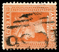 Lot 11195:1656: '1656' on 1d brown.  Allocated to Thorpdale South-PO 9/8/1888; closed 31/10/1968.