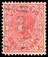 Lot 12918:1684: light '[1]684' in blue on 1d pink.  Allocated to Axe Creek R.S.-PO 1/3/1889; renamed Longlea PO 20/12/1904; closed 24/2/1989.