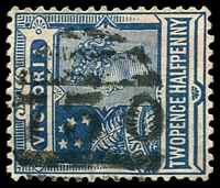 Lot 2254:1730: '[1]730' on 2½d blue. [Rated SS]  Allocated to Bushy Park-PO 1/11/1889, provisionally closed 27/8/1938; closed 25/1/1939.