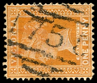 Lot 11229:1755: '1755' on 1d brown.  Allocated to Yering R.S.-PO 10/4/1890; renamed Yering PO c.1915.
