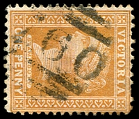 Lot 11233:1760: '[1]760' Type 17B on 1d brown. [Rated 3R]  Allocated to Rowsley-PO 12/5/1890; closed 30/4/1962.