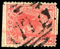 Lot 11239:1773: '1773' on 1d pink. [Rated SS]  Allocated to Peechelba Town-PO 26/8/1890; closed 30/6/1969.