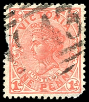 Lot 2286:1943: '1943' on 1d pink.  Allocated to Mornington Junction-PO 1/12/1892; renamed Baxter PO 6/5/1918.