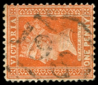 Lot 2295:1981: '1981' on 1d brown.  Allocated to Pitfield Plains-PO 1/1/1897; closed 3/9/1946.