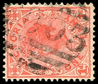 Lot 11308:2003: '2003' on 1d pink. [Rated 3R]  Allocated to Tallandoon-PO 21/1/1899; closed 29/6/1968.