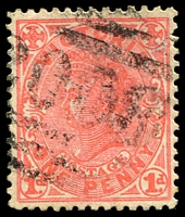 Lot 2301:2008: '2008' on 1d pink. [Rated R]  Allocated to Wattle Hill-PO 5/8/1899; closed 30/9/1946.