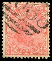 Lot 2237:2065: '2065' on 1d pink. [Rated 3R]  Allocated to Nine Mile-PO 24/4/1902; closed 29/2/1956.