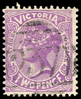 Lot 12191:237: on 2d violet.  Allocated to Warrenheip-PO 1/1/1859; closed 29/4/1988.