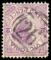 Lot 10603:267: type 2B on 2d violet.  Allocated to Amphitheatre-PO 22/6/1859; LPO 16/10/1993.