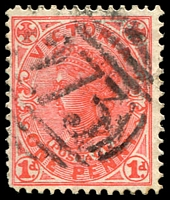Lot 12229:273: '273' on 1d pink.  Allocated to Belmont-PO 21/1/1860.