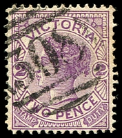 Lot 12254:308: '308' on 2d violet. [Rated R]  Allocated to Barnawartha-PO 1/8/1860; LPO 1/7/1994.