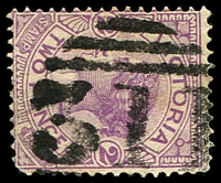 Lot 11740:311: '311' 3rd type (large, thick figures) on 2d violet. [Rated 3R]  Allocated to Coghill's Creek-PO 20/8/1860; closed 13/7/1968.