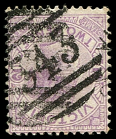 Lot 12270:343: type 3R on 2d violet.  Allocated to Tallarook-PO 1/4/1861; LPO 27/10/1994.