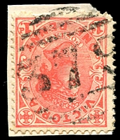 Lot 12286:379: '379' 3rd type on 1d pink.  Allocated to Lancefield Road-PO 1/1/1862; renamed Lancefield Junction PO 1/9/1881; renamed Clarkefield PO 11/1/1926.