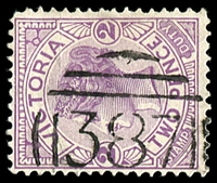Lot 10647:387: on 2d violet. [Rated R]  Allocated to Mickleham-PO 1/2/1862; closed 30/9/1967.