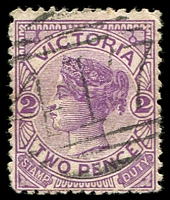 Lot 10663:417: '417' 2nd type on 2d violet.  Allocated to Donnelly's Creek-PO 1/12/1862; closed c.-/4/1923.