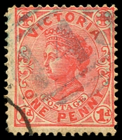 Lot 10675:443: light '443' on 1d pink. [Rated SS]  Allocated to Bungaree-PO 1/8/1863; LPO 1/6/1994.