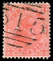 Lot 10709:515: '515' on 1d pink. [Rated SS]  Allocated to Leigh Creek-PO 4/3/1865; closed 31/7/1979.