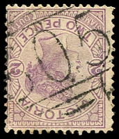 Lot 10741:605: '605' on 2d violet. [Rated R]  Allocated to Ullina-PO 5/3/1866; closed 30/9/1966.