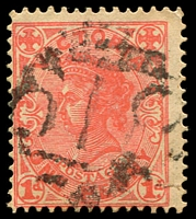 Lot 1993:618: '618' on 1d pink.  Allocated to Fernbank-PO 1/1/1868; closed 30/4/1977.