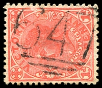 Lot 1853:647: '647' on 1d pink.  Allocated to Black Springs-PO 1/5/1868; renamed Eurobin PO 9/12/1869; closed 31/10/1993.