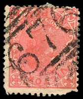 Lot 10768:676: '676' on 1d pink (faulty).  Allocated to Berlin-PO 15/2/1869; renamed Rheola PO c.-/11/1876; closed 19/6/1974.