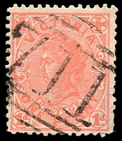 Lot 1872:711: on 1d pink. [Rated SS]  Allocated to Goldie-PO 13/4/1870; renamed Springfield PO 1/10/1884; closed 30/6/1961.