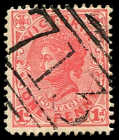 Lot 10786:713: on 1d pink.  Allocated to Nareen-PO 1/7/1870; closed 30/9/1974.