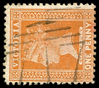 Lot 10789:717: '717' 1st type on 1d brown. [Rated R]  Allocated to Dunach-PO 5/9/1870; closed 4/3/1931.