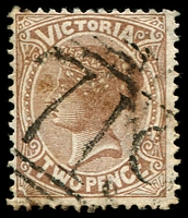 Lot 11951:719: '719' on 2d sepia.  Allocated to Heyfield-PO 24/9/1870; LPO 19/10/1993.
