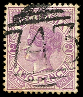 Lot 11976:743: '743' on 2d violet.  Allocated to Briagolong-PO 1/5/1871; LPO 30/3/1994.