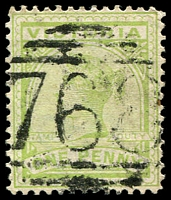 Lot 10826:768: '768' on 1d green.  Allocated to Drik Drik-PO 1/1/1872; closed 30/6/1971.