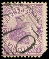 Lot 10828:770: '770' on 2d violet (missing corner).  Allocated to Aberfeldy-PO 1/1/1872; TO 15/10/1949; closed c.1967.