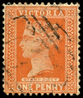 Lot 10831:778: light '778' on 1d brown.  Allocated to Wooragee-PO 11/6/1872; closed 31/1/1969.