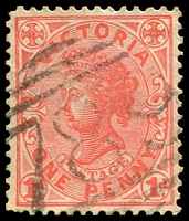 Lot 12526:789: '789' on 1d pink.  Allocated to Ferntree Gully-PO 1/1/1873; renamed Ferntree Gully South PO 15/4/1967.