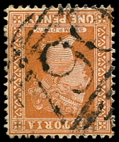 Lot 10844:790: '790' on 1d brown.  Allocated to Newhaven-PO 1/1/1873, provisionally closed 31/12/1974; closed 31/3/1975.