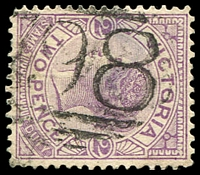 Lot 1904:'798' on 2d violet.  Allocated to Brandy Creek-PO 1/4/1873; renamed Buln Buln PO 19/11/1874; closed 30/11/1973.