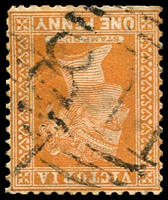 Lot 12011:811: '811' on 1d brown. [Rated SS]  Allocated to Terrick Terrick-PO 1/10/1873; RO 1/8/1903; PO 1/7/1927; closed 31/1/1931.