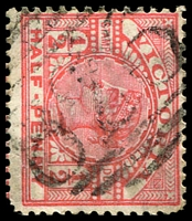 Lot 2052:826: '826' on ½d pink. [Rated 2R]  Allocated to Myrtle Creek-PO 10/1/1874; closed 1/3/1895.
