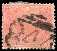 Lot 12549:844: '844' on 1d pink.  Allocated to Sebastian-PO 8/7/1874; closed 3/9/1976.