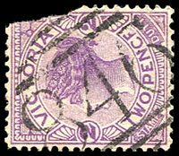 Lot 10866:846: '846' on 2d violet. [Rated SS]  Allocated to Balmattum-PO 1/7/1874; renamed Balmattum East PO 1/2/1891; closed 1/7/1893.