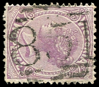 Lot 12551:851: '851' on 2d violet.  Allocated to Doogalook-PO 1/8/1874; renamed Homewood PO 8/10/1894; closed 10/10/1975.