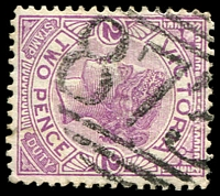 Lot 12563:873: '873' on 2d violet.  Allocated to Karkarooc-PO 22/2/1875; renamed Rupanyup PO 10/4/1876; LPO 1/3/1993.