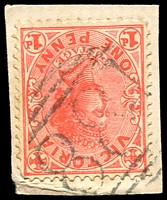 Lot 10880:881: '881' on 1d pink.  Allocated to Pimpinio-PO 9/3/1875; closed 30/4/1980.