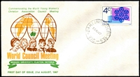Lot 525:Parade 1967 Young Womens Christian Assoc. 4c tied to illustrated FDC by 'DARLING SOUTH SE5/21AU67/VIC.' (A2 - WWW #20B - Rated 2R), unaddressed, light toning on some stamps perfs.