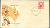 Lot 786:WCS 1962 John Stuart 5d tied to illustrated cover by 'MILDURA SOUTH/25JY62/VIC-AUST' (A1 - WWW #10A), unaddressed.
