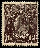 Lot 637:1½d Black-Brown Die I - BW #84(2)e [2L22] TA of POSTAGE joined at top, Cat $40.