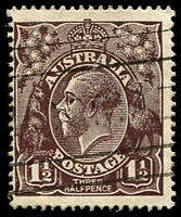 Lot 634:1½d Black-Brown Die I - [2L34] Notch in oval between S & T